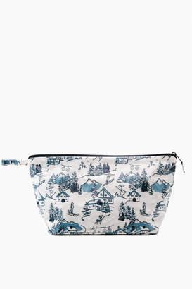 Roller Rabbit Large Ski Toile Make Up Bag