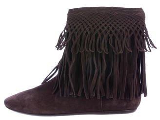 Christian Dior Fringe-Trimmed Ankle Boots