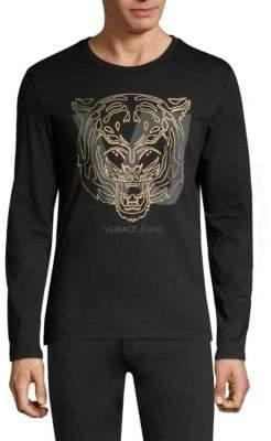 Versace Tiger Cotton Crewneck