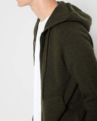 7 For All Mankind Zipper Hoodie in Fatigue