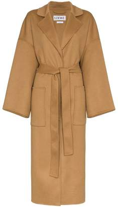 Loewe oversized belted wool cashmere-blend coat