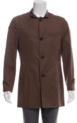 Brunello Cucinelli Virgin Wool & Silk Blend Car Coat w/ Tags