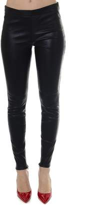 cfae56536f6922 Saint Laurent Black Lambskin Leather Leggins