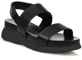 Cole Haan ZeroGrand Leather Platform Slingback Sandals $150 thestylecure.com