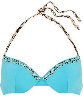 Embellished Halterneck Bikini Top