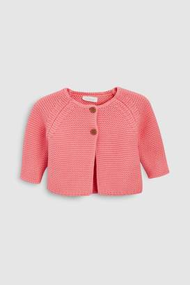 Next Girls Pink Cardigan (0mths-2yrs)