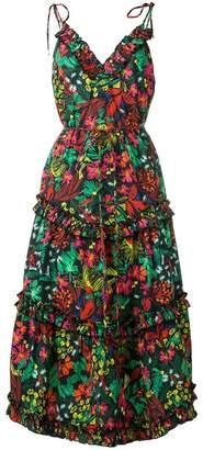 1acd4d4d40b6 Escada Sport floral tiered midi dress