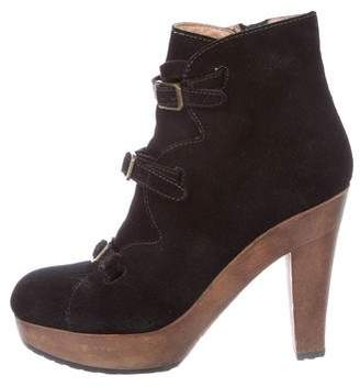 See by Chloe Suede Platform Ankle Boots