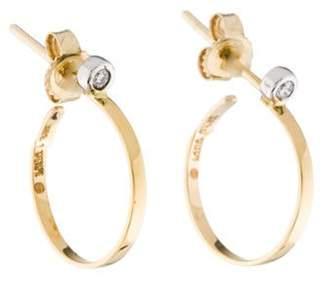 Lana 14K Diamond Hoop Earrings yellow 14K Diamond Hoop Earrings