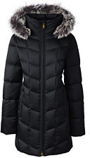 Lands' End Women's Tall Shimmer Down Parka-Deep Scarlet $209 thestylecure.com