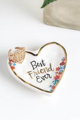 Natural Life Best Friend Ever Heart Trinket Dish