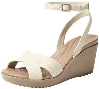 Crocs Women's Leigh II Ankle Strap W Wedge Sandal