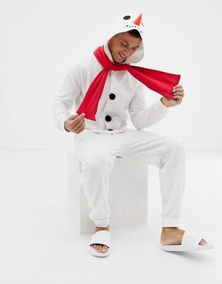 Asos DESIGN Holidays snowman onesie