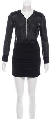 IRO Zip-Up Mini Dress