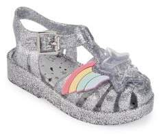 Mini Melissa Baby Girl's & Little Girl's Possession Glitter Sandals