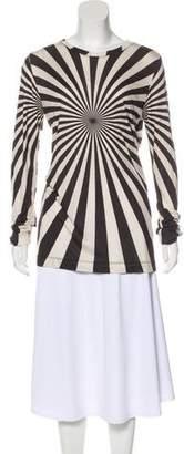 Gareth Pugh Bateau Neck Long Sleeve Top