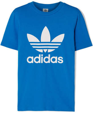 adidas Trefoil Printed Stretch-cotton Jersey T-shirt