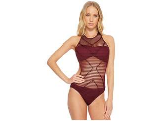 Kenneth Cole Wrapped In Love Monokini Women's Swimsuits One Piece