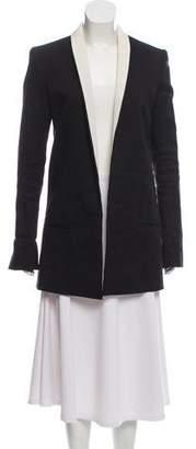 Haider Ackermann Linen Open-Front Coat