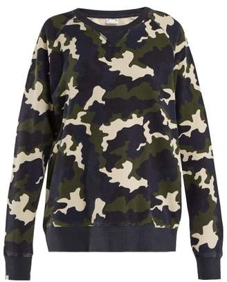 The Upside Sid French Camo Print Cotton Sweatshirt - Womens - Camouflage