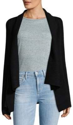 BCBGMAXAZRIA Open Front Ribbed Cardigan