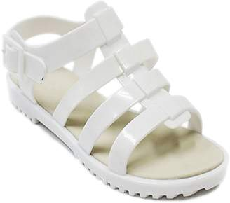 Beach Sexy TravelNut Sale Best White Sparkly Jelly Caged Lattice Strap Sandals Ver Zapatos Bajitos De Mujer Doc Martin Top Rubber Sole Low Flat Heel Waterproof Rain Casual Shoe for Women Girl (Size 7, White)