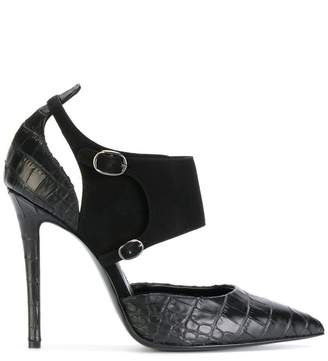 Ermanno Scervino cut out buckled strap pumps