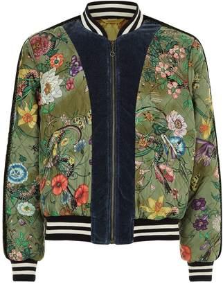 Gucci Snake Print Bomber Jacket