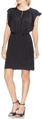 Vince Camuto Rumpled Satin Keyhole Dress