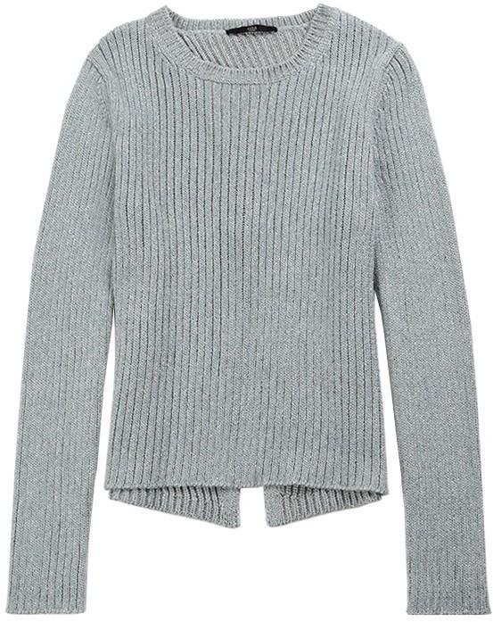 Tibi Metallic Crossback Sweater