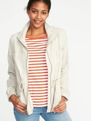 Old Navy Linen-Blend Field Jacket for Women