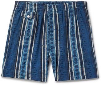 Beams Printed Cotton Shorts