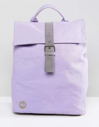 Mi-Pac Mi Pac Canvas Fold Top Backpack in Lilac