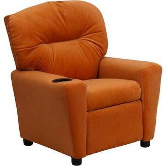 Riverstone Furniture Contemporary Kids Recliner with Cup Holder - Riverstone