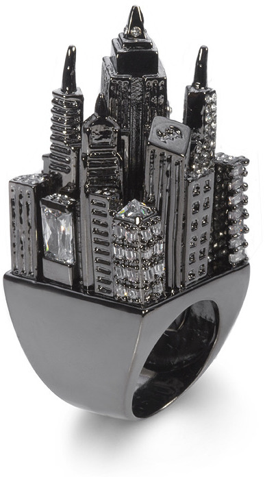Noir Gotham City Ring