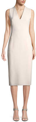 Akris Solid Wool Dress