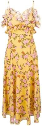 Giamba floral print midi dress