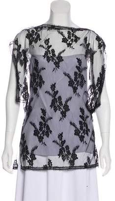 Wes Gordon Lace and Silk Top w/ Tags