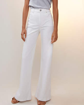 Express Petite High Waisted Wide Leg Pant