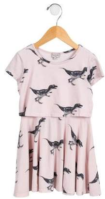Paul Smith Girls' Layered Dinosaur Dress
