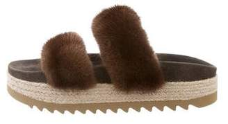 Brunello Cucinelli Mink Slide Sandals