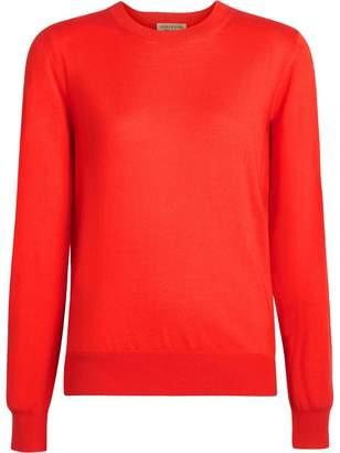Burberry Vintage Check Detail Merino Wool Sweater
