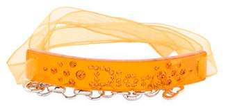 Christian Dior Ribbon ID Logo Bracelet