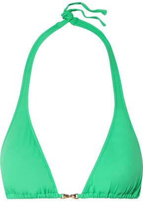 Melissa Odabash Mustique Triangle Bikini Top - Green