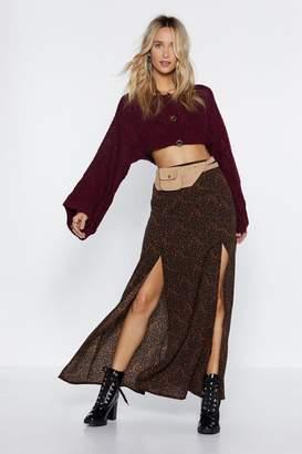 Nasty Gal Long Time No See Maxi Skirt
