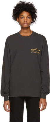 Alexander Wang Black Long Sleeve Rodeo Drive Platinum T-Shirt