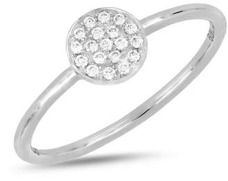Bony Levy 18K White Gold Diamond Disc Ring - 0.09 ctw