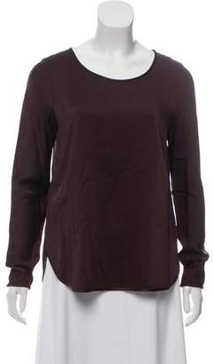 Theory Long Sleeve Scoop Neck Top