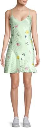 Lea & Viola Floral & Polka Dot Slip Dress