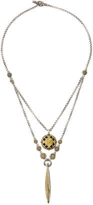 Konstantino Sterling Silver & 18K Gold Double Chain Pendant Necklace